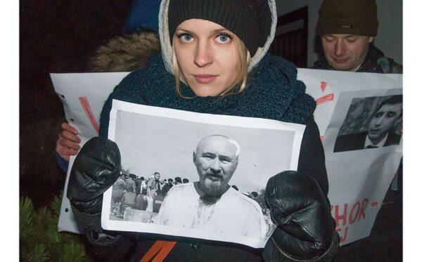 Протест під посольством Казахстану у Варшаві