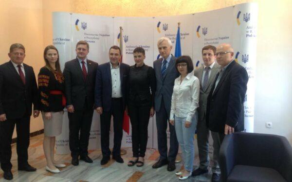 Звільнена Савченко у Варшаві. Зустріч з представниками Фундації «Відкритий Діалог»