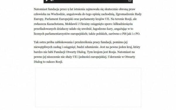 Анджей Веловейський для «Rzeczpospolita»:  Удар по «Відкритому Діалогу» – це успіх Росії